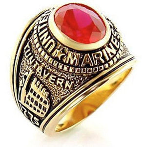 LIMITED EDITION US Marine Corps Ring USMC Military Ring SILVER & GOLD - 75% OFF & FREE SHIPPING WHILE SUPPLIES LAST! - Veteran Tees - 2