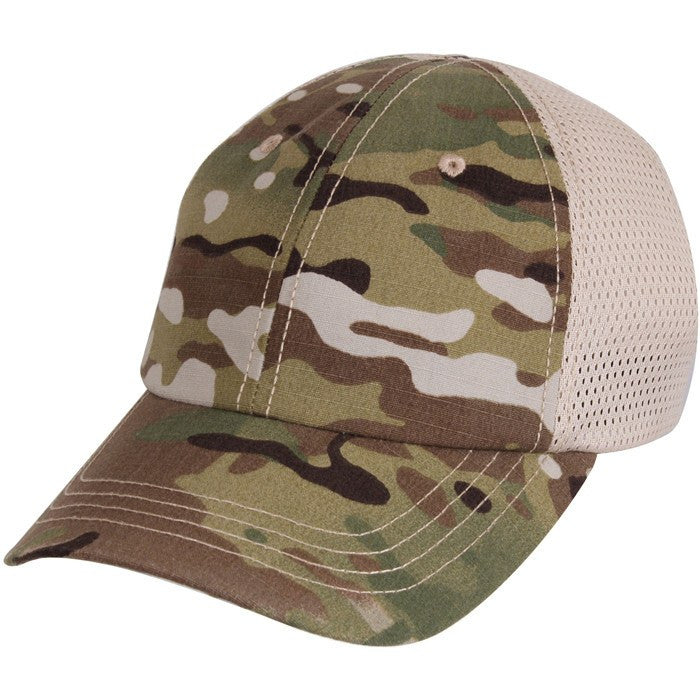 Multicam - Adjustable Mesh Back Tactical Cap - Veteran Tees - 1