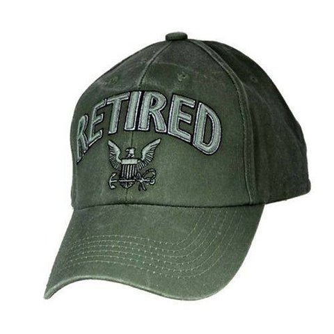 US NAVY RETIRED - US NAVY Officially Licensed Military Hat Baseball Cap - Veteran Tees