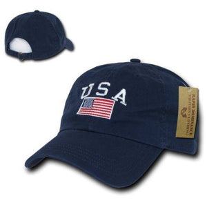 Limited Edition Navy Blue American Polo Baseball Cap - Veteran Tees