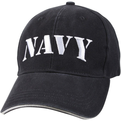Navy Blue - Vintage Low Profile NAVY Adjustabe Baseball Cap - Veteran Tees