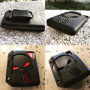 Custome Made Tactical Punisher Kydex Wallet w/ Money Clip