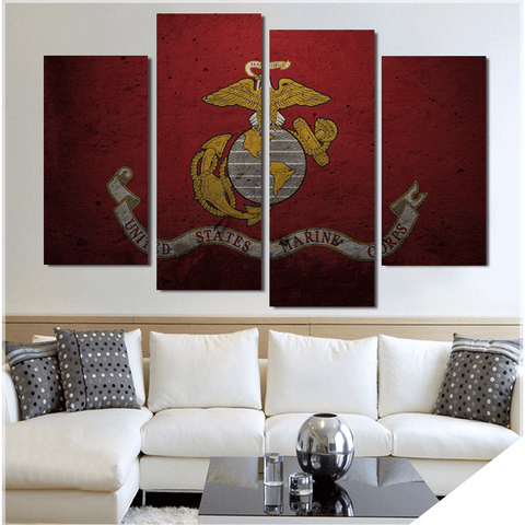 USMC Signature Canvas Paintings