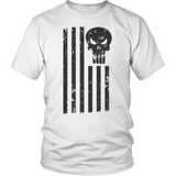 LIMITED EDITION; Punisher American Flag - Distressed - Veteran Tees - 3