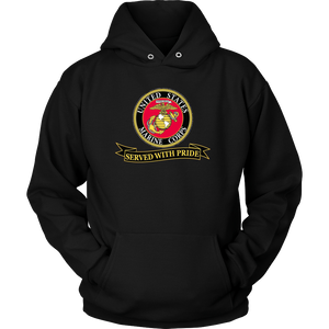 "Limited Edition USMC ""Served With Pride"" Shirt, Sweatshirt, Hoodie - 30% OFF WHILE SUPPLIES LAST! - Veteran Tees - 7"