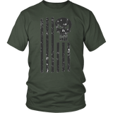 LIMITED EDITION; Punisher American Flag - Distressed - Veteran Tees - 4
