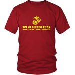 "LIMITED EDITION - Marines ""The Few. The Proud."" Single Sided - Veteran Tees - 1"