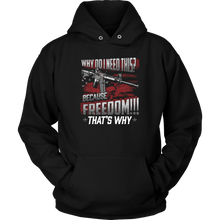 """Because Freedom"" Shirts, Tanks, Longsleeves, & Hoodies"