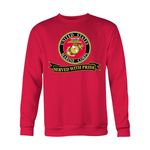 "Limited Edition USMC ""Served With Pride"" Shirt, Sweatshirt, Hoodie - 30% OFF WHILE SUPPLIES LAST! - Veteran Tees - 5"