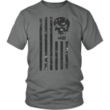 LIMITED EDITION; Punisher American Flag - Distressed - Veteran Tees - 2