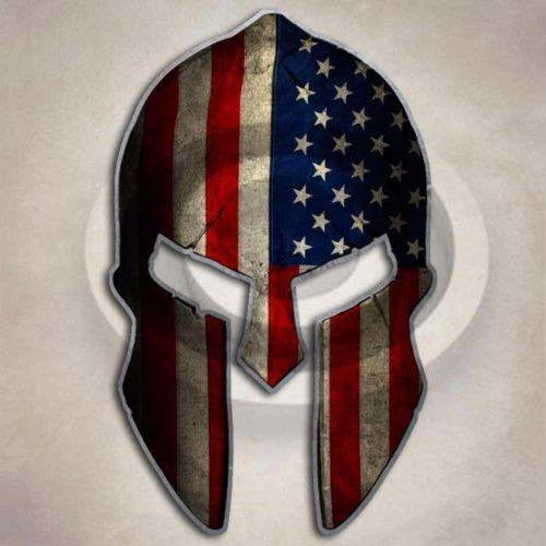 Subdued Flag Spartan Helmet Sticker American Tactical Arms Gun Decal - FREE SHIPPING - Veteran Tees - 1