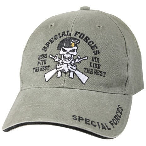 Olive Drab - Vintage Low Profile Special Forces Adjustable Baseball Cap - Veteran Tees