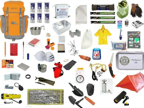 3 Day Off the Grid Bug Out Bag (Food, Water, Shelter, Fire, Warmth, Hunting, Tools, 1st Aid, and much more!)
