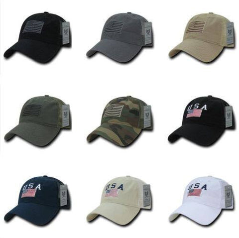 American Flag Patch Trucker Baseball Cap - FREE SHIPPING - Veteran Tees - 1