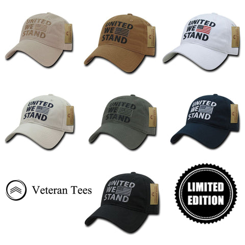 EXCLUSIVE; United We Stand Baseball Cap - Veteran Tees - 1