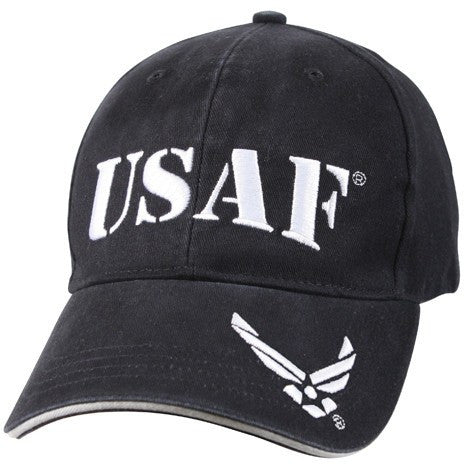 Navy Blue - Vintage Low Profile USAF Adjustable Baseball Cap - Veteran Tees