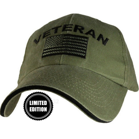 "Limited Edition ""Veteran"" OD Green Hat - 30% OFF WHILE SUPPLIES LAST! - Veteran Tees"
