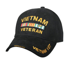 Deluxe Military Veterans Low Profile Hat Black Adjustable Cap - Veteran Tees - 5