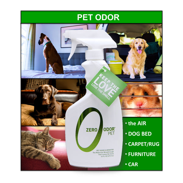 Zero Odor 174 Pet Odor Eliminator Trigger Spray 16 Ounces