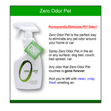 Zero Odor Pet Odor Eliminator, Trigger Spray, 16 ounces
