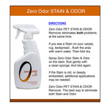 Zero Odor Pet Stain Remover and Molecular Odor Eliminator, 16-ounces