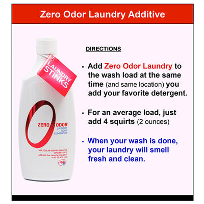 Zero Odor® Laundry Odor Eliminator Concentrate, 16-ounce