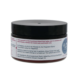 back image of twist & curl hair butter for naturally curly hair