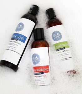 Wash Day Trio | Hair Cleanser, Replenishing Conditioner and Leave In Conditioner for Curly Hair