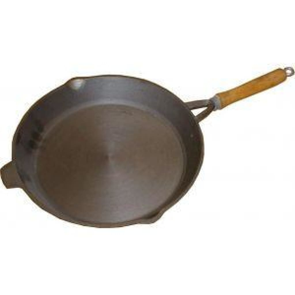 12 Inch Round Frypan - Wooden Handle Cooking / Kitchenware