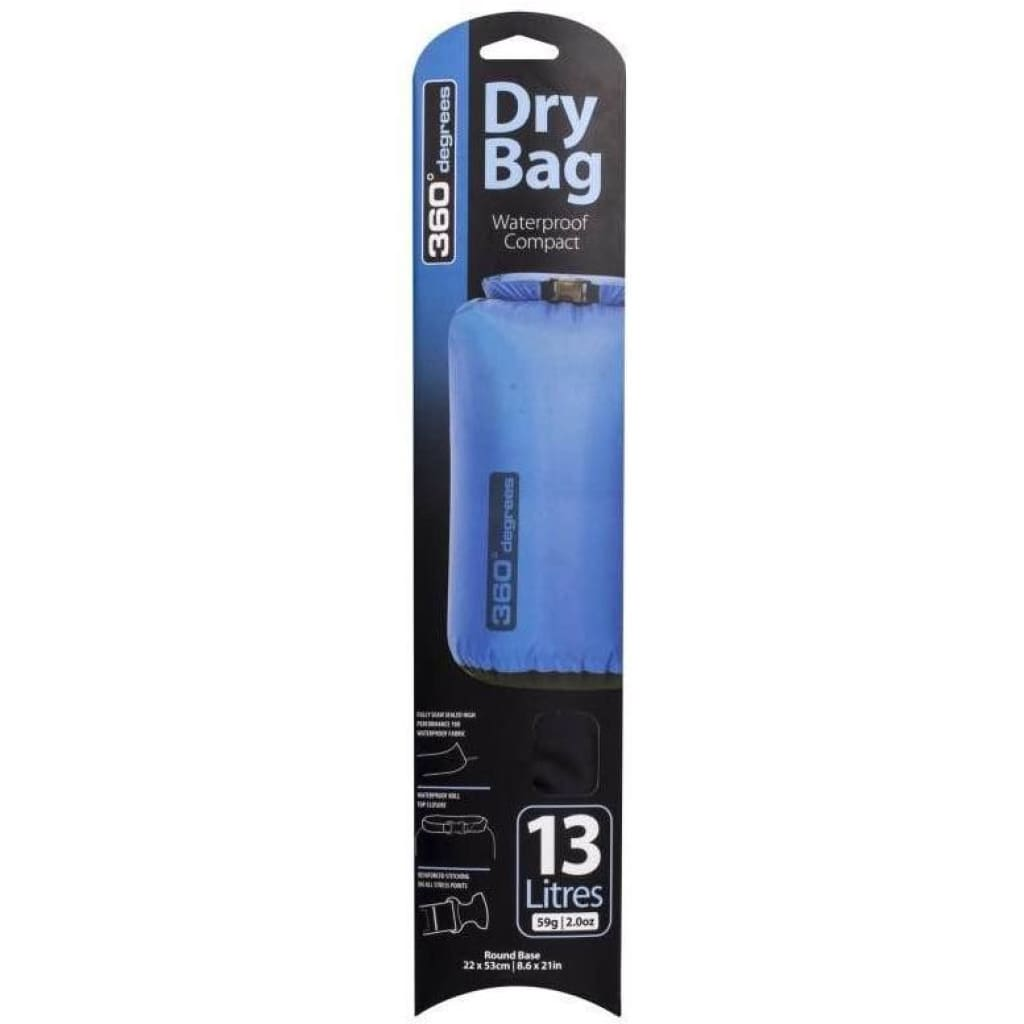 360 Degrees Dry Bag 13L Black S / W Bags