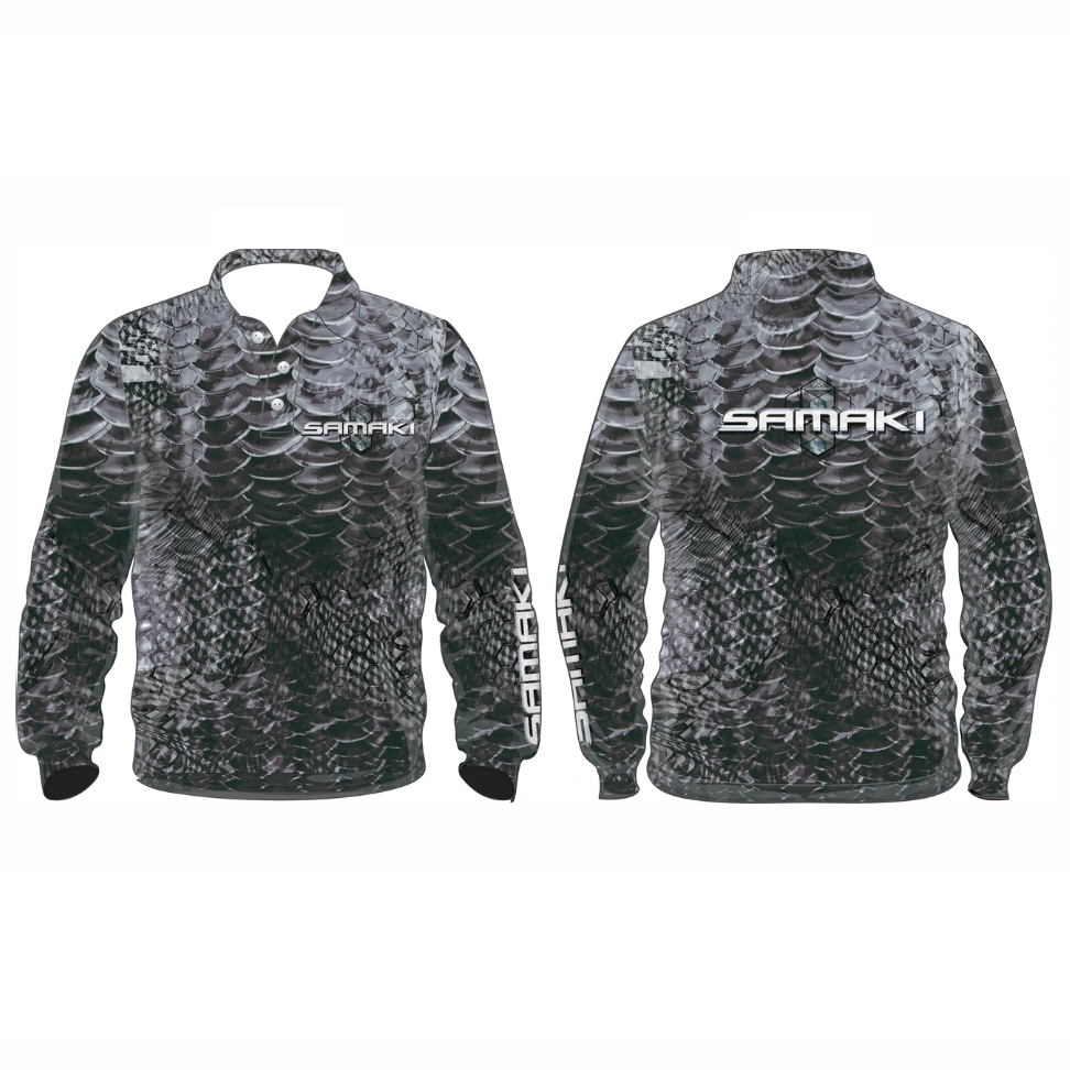 Samaki Grey Scale Longsleeve Shirt