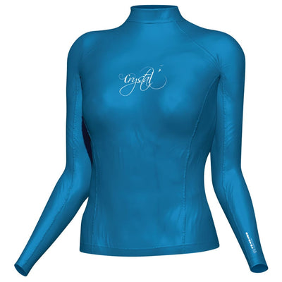 Crystal Womens Rash Top - Longsleeve S / Blue S / W Clothing / Footwear