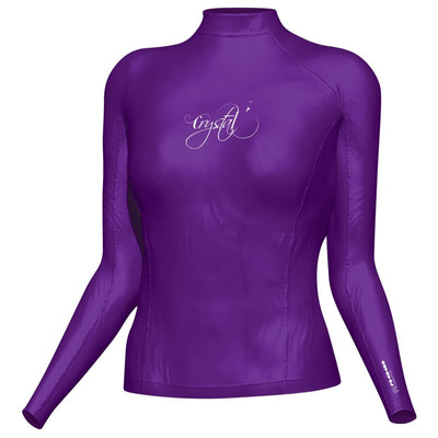 Crystal Womens Rash Top - Longsleeve S / Purple S / W Clothing / Footwear