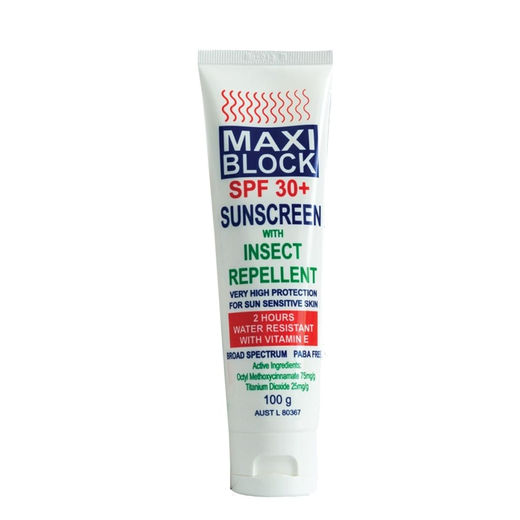 Maxi Block Spf30+ With Insect Repellent Insect / Sun / Rain Protection
