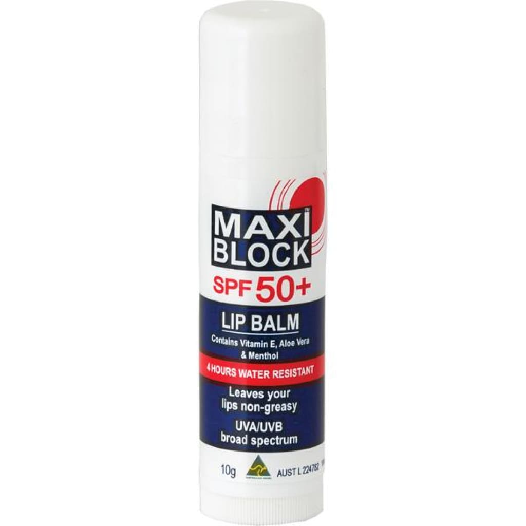 Maxi Block Spf50+ Lip Balm Insect / Sun / Rain Protection