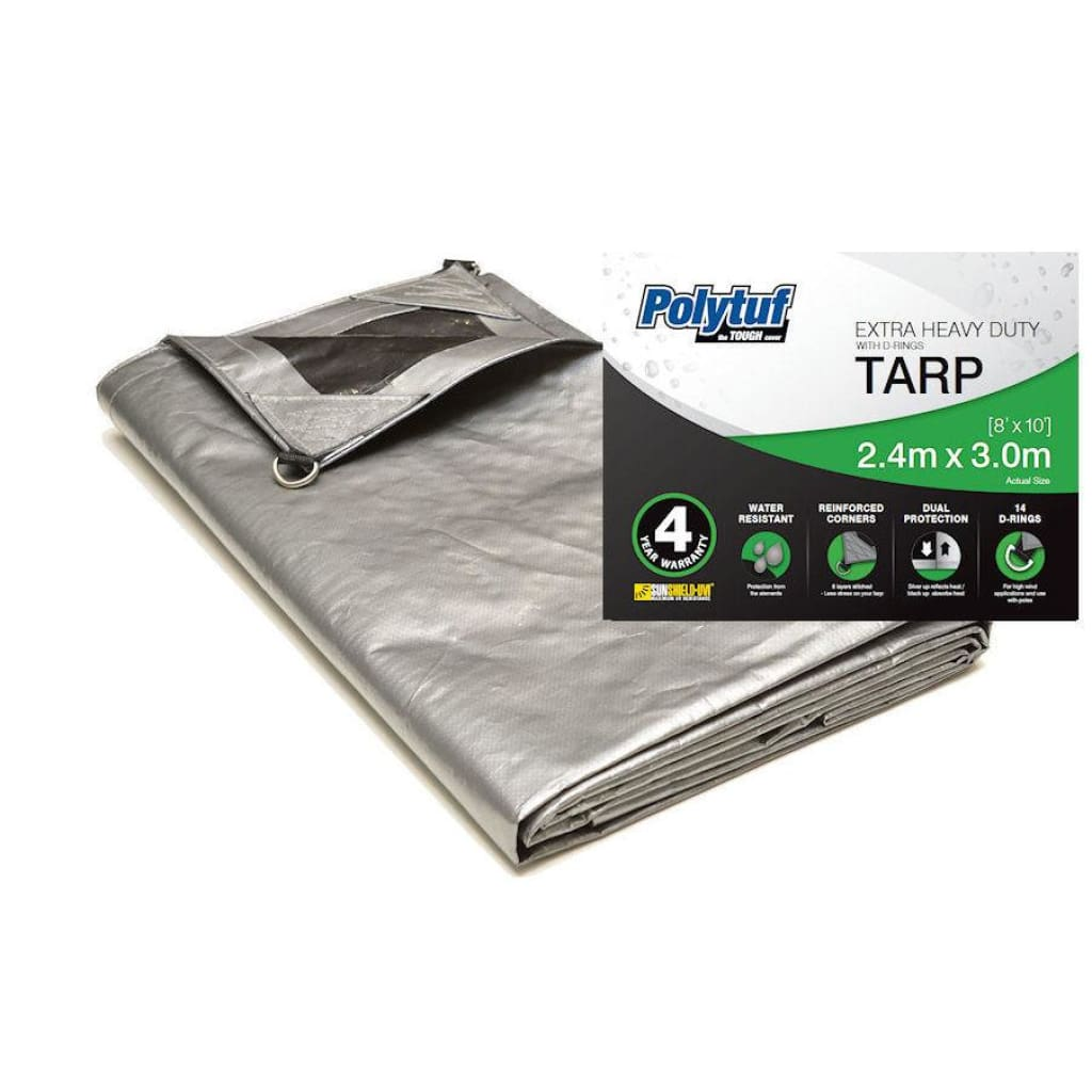 Polytuf Extra Heavy Duty D-Ring Tarp