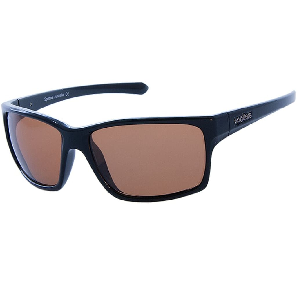 Spotters Grit Gloss Black Sunglasses