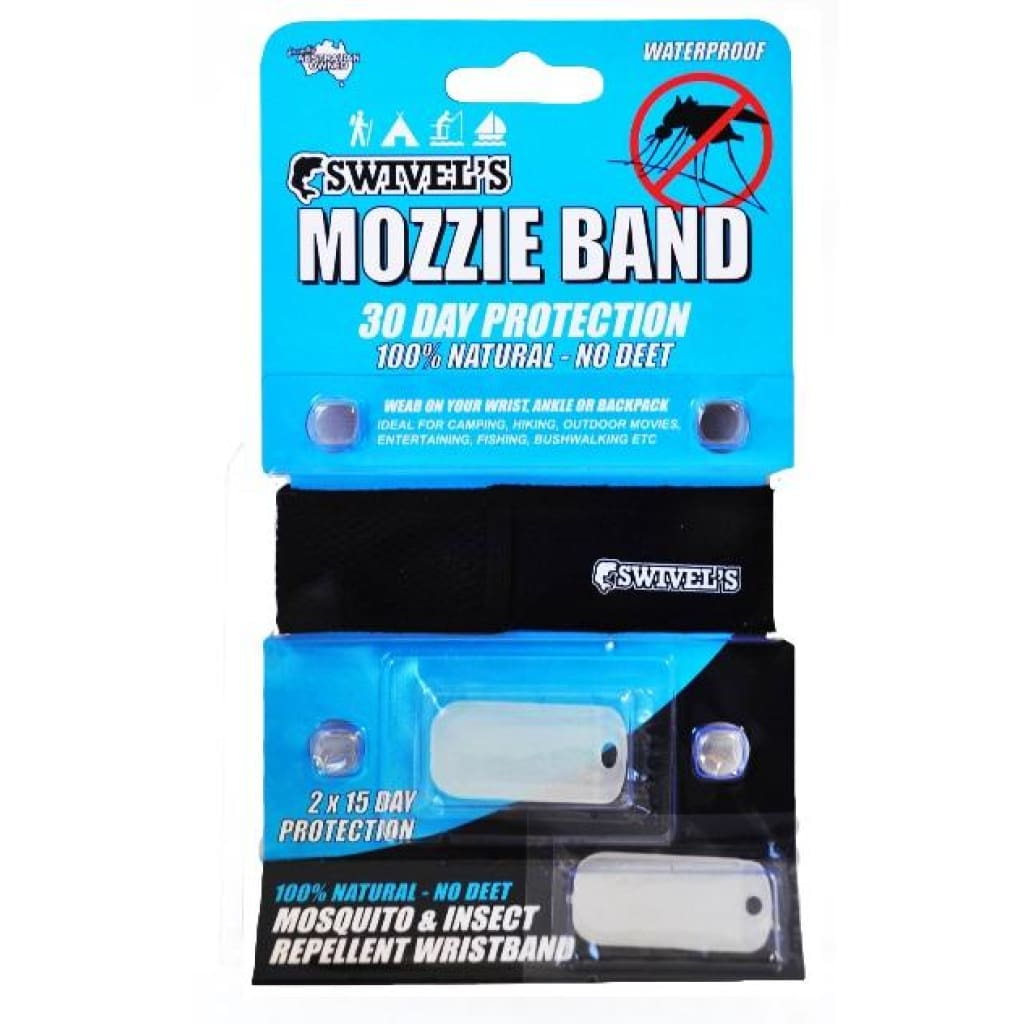 Swivels Mozzie Band - No Deet Insect / Sun / Rain Protection