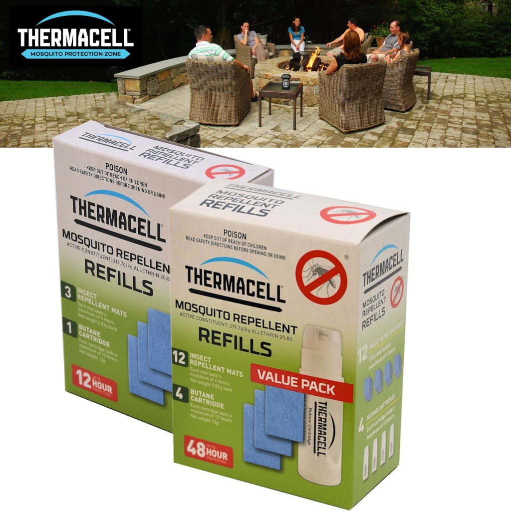 Thermacell 12Hr Refill Insect / Sun / Rain Protection
