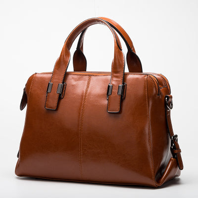 latest designer high quality brown tan leather handbag crossbody classic design nz buy online