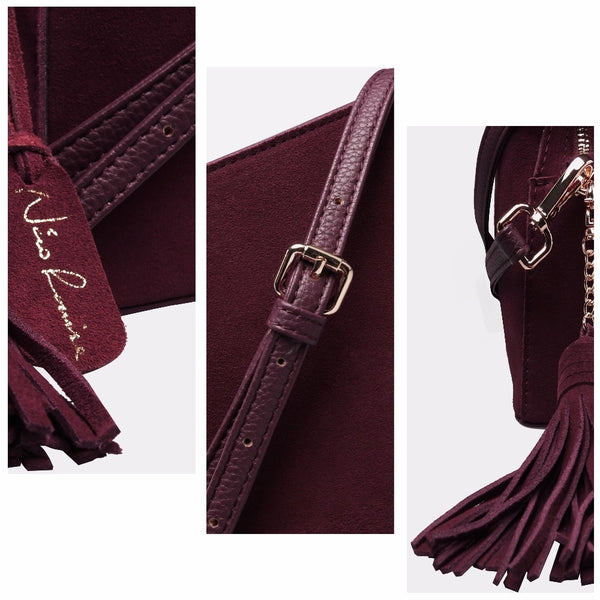 latest designer leather crossbody bag suede leather nz buy online