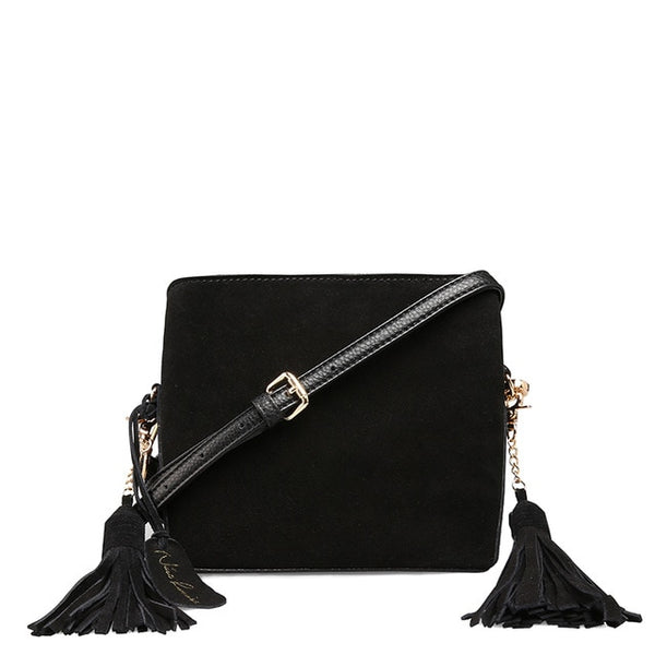 latest designer crossbody black suede leather tassels nz buy online