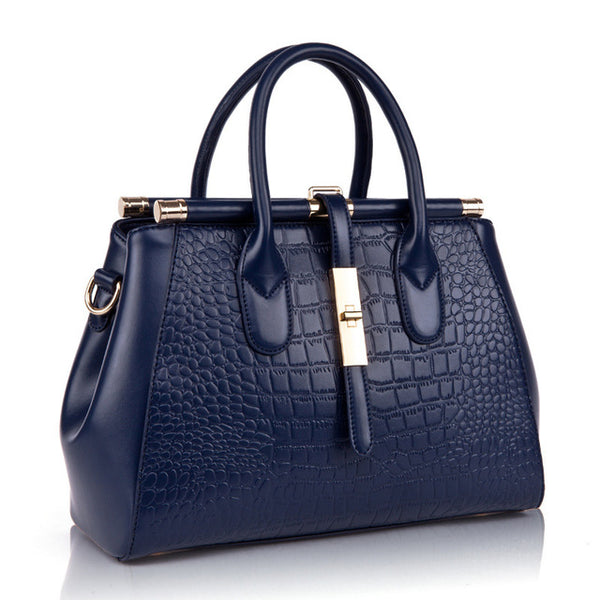 latest designer luxury leather crocodile blue handbag nz buy online