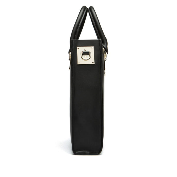 latest designer leather tote handbag shoulder bag crossbody black