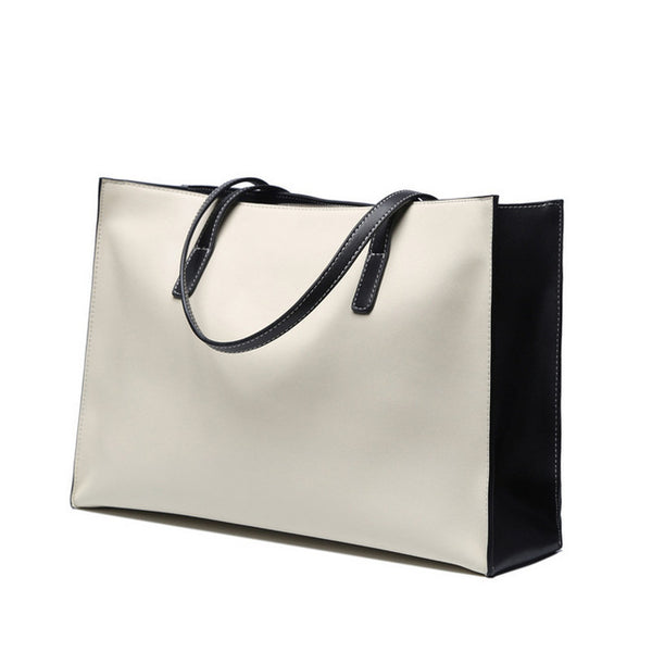 latest designer luxury leather tote bag white cream nz buy online