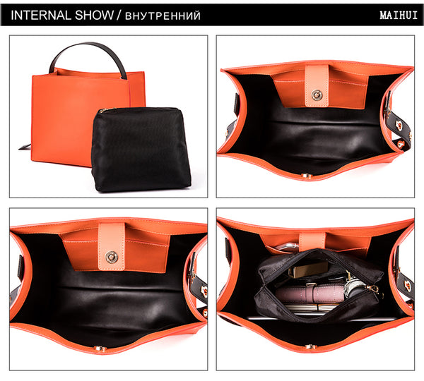latest handbag runway designer box bag quality leather orange nz buy online