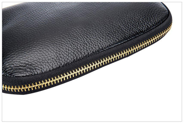 Metallic leather wallet: GOLD