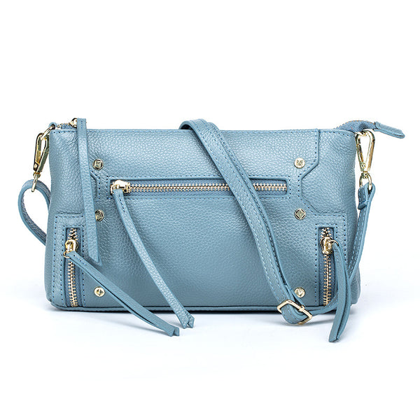 latest designer blue leather crossbody nz buy online punk style