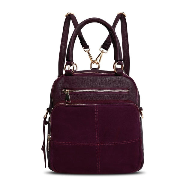 cf4ad6c32ebf latest designer quality leather handbag backpack dark purple buy nz online