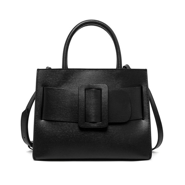 latest designer handbag trend leather black belt box shape nz buy online